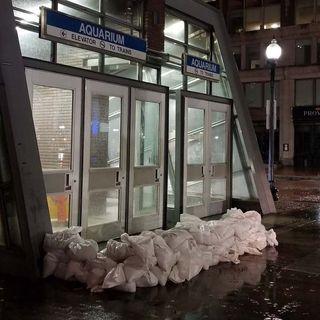 MBTA Aquarium Station Closed Due To Flooding