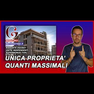 SUPERBONUS 110 come funziona su un edificio unico proprietario con demolizione e ricostruzione?