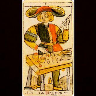 A carta do Tarot do coiso