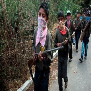 Una vergüenza armar a niños: AMLO