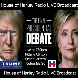 3rd Presidential Debate LIVE at the Hillary Clinton Headquarters, Columbia SC