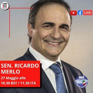 Sen. Ricardo Merlo: Le Camere di Commercio come leva per il rilancio dell'economia italiana all'estero
