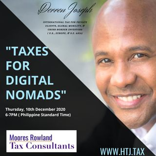 [ HTJ Podcast ] Taxes For Digital Nomad 10th December with Derren Joseph.