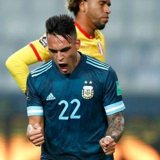 Lautaro Martínez amplió la ventaja para Argentina ante Perú