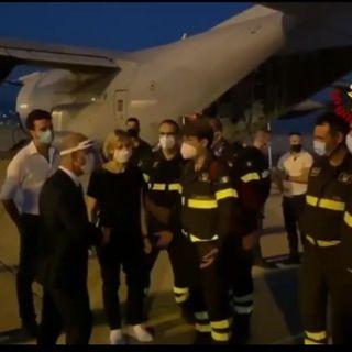 Cinque vigili del fuoco veneti in soccorso di Beirut devastata dall'esplosione