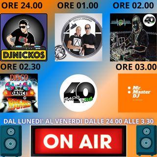 "Radio 40 "" THE BEST SOUND DEEJAY"" Lunedi notte 23/02/2021"