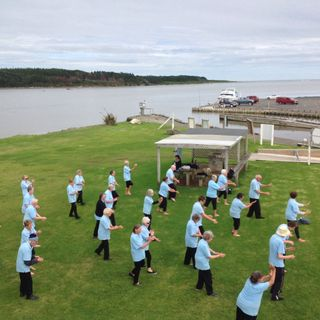 Inner Smile Tai Chi Club Visits Foxton Beach