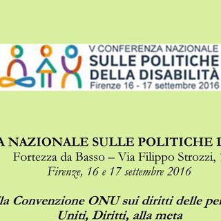 Quinta conferenza nazionale sulle politiche della disabilità e intervista a Pietro Barbieri