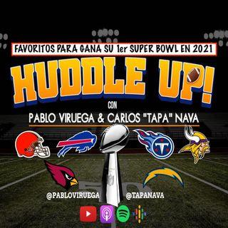 #HuddleUP Equipos que no han ganado Super Bowl y en este 2021 tiene posibilidades @TapaNava y @PabloViruega