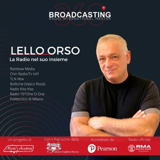 Lello Orso il creatore del master 360 Broadcasting International
