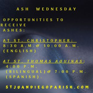 Of Lent and Ashes at St. Juan Diego Parish