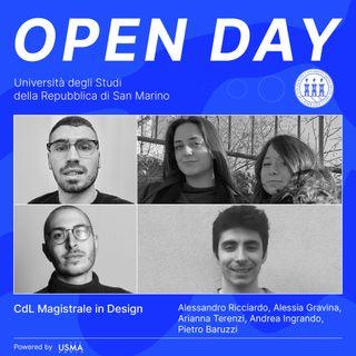 Open Day 2021 - Design Magistrale - Alessandro, Andrea, Alessia, Arianna e Pietro