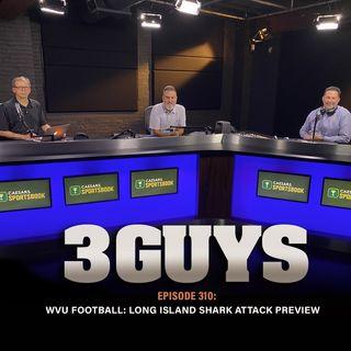 WVU Football:  Mountaineer football prepares for Long Island shark attack - Episode 310