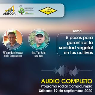Programa CampoLimpio del 19 de septiembre (sanidad vegetal)