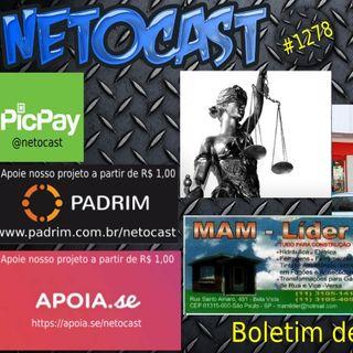 NETOCAST 1278 DE 02/04/2020 - Justiça autoriza abertura de Lojas Americanas no RJ apesar de decretos públicos
