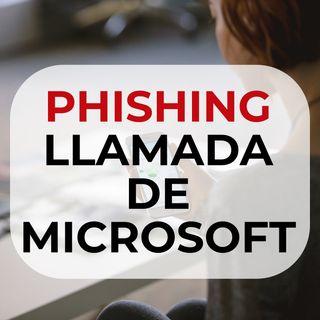 64 Phishing llamada de Microsoft