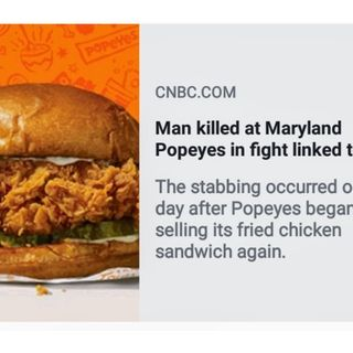 Man killed at Maryland Popeyes in fight linked to popular chicken sandwich