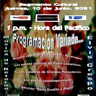 Programación Cultural y Literaria Variada + Merengue con Elvis Crespo