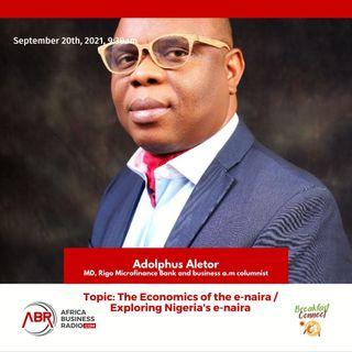 The Economics Of E-Naira - Adolphus Aletor