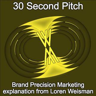 30 Second Pitch - Loren Weisman explaining Brand Precision Marketing.