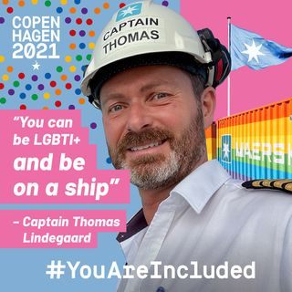 """25. """"You can be LGBTI+ and be on a ship"""" - Captain Thomas Lindegaard"""