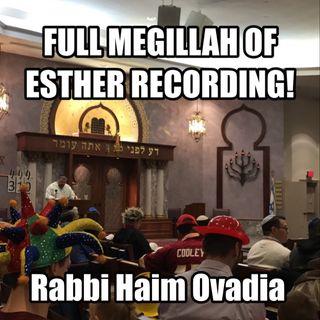 Megillat Esther - Full Reading Of Megillah מגילת אסתר ספרדי ירושלמי