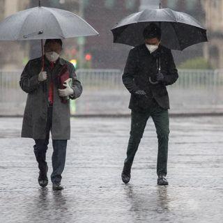 Llueve en puntos de la ciudad de México