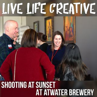 Shooting at Sunset at Atwater Brewery