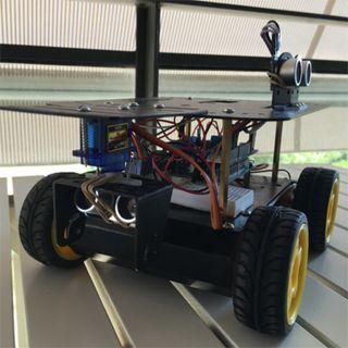 92. Crear un vehículo autónomo con sensores de ultrasonidos y Arduino