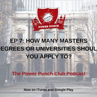 How many Masters or Ph.D. degrees/universities should you apply to?