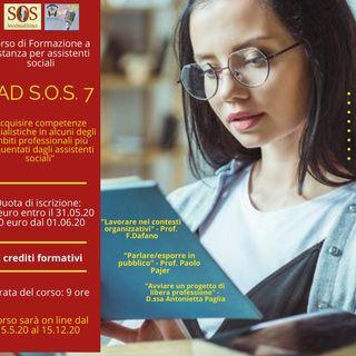 """FAD S.O.S. 7 - Secondo podcast - """"Parlare/esporre in pubblico: strategie di sopravvivenza per assistenti sociali"""""""