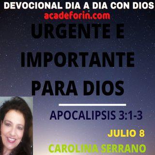 LO URGENTE E IMPORTANTE PARA DIOS