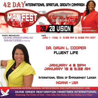 The Set Standard!!! | Dr. Dawn L. Cooper | 42 Day Manifest 20/20 Vision