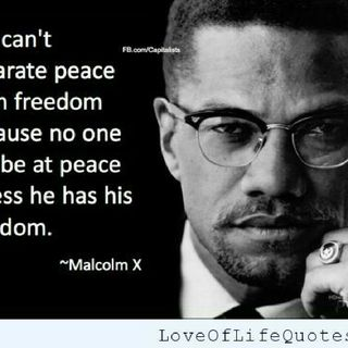 Malcolm X #1 Freedom defined