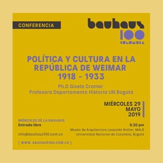 Prográmese con el Bauhaus 100 Colombia