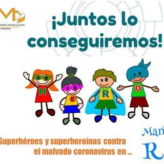 Superhéroes y superheroínas de 2º EP contra el malvado coronavirus
