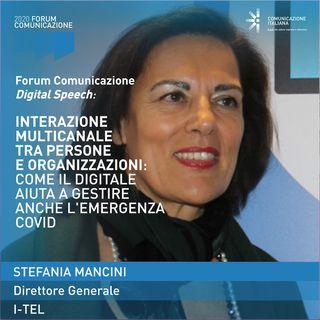 Stefania Mancini | I-Tel | Interazione multicanale tra persone e organizzazioni | Forum Comunicazione 2020