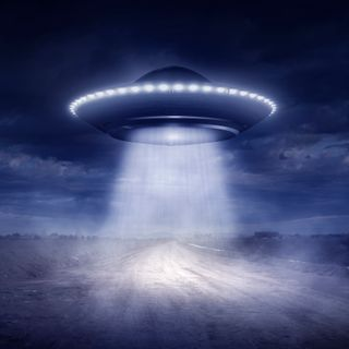 Biker Run Off the Road by UFO