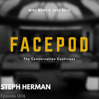 Episode 004 - Steph Herman looms over an unoccupied park bench.