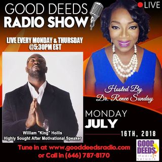 William King Hollis Highly Sought After Motivational Speaker on Good Deeds