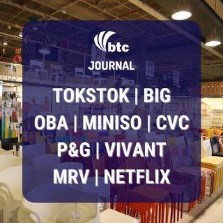 IPO: TokStok, Big, Oba e Miniso | CVC, P&G, Vivant e Netflix | BTC Journal 22/10/20