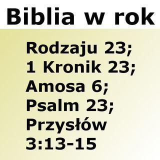 023 - Rodzaju 23, 1 Kronik 23, Amosa 6, Psalm 23, Przysłów 3:13-15