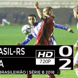 CSA 2 x 0 Brasil de Pelotas Campeonato Brasileiro Série B 2018 33ª RODADA narraçao wellington martins radio globo cbn correio