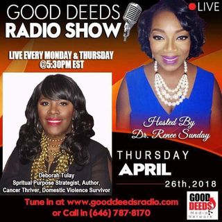 Deborah Tulay Spiritual Purpose Strategist Author Cancer Thriver on Good Deeds Radio ShowD