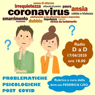 Problematiche psicologiche POST COVID