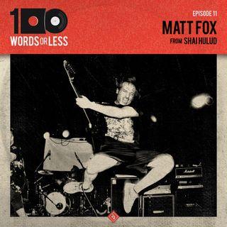 Matt Fox from Shai Hulud