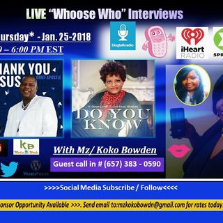 Mz. Koko Bowden interviews Chief Apostle & D-  Love Ministries