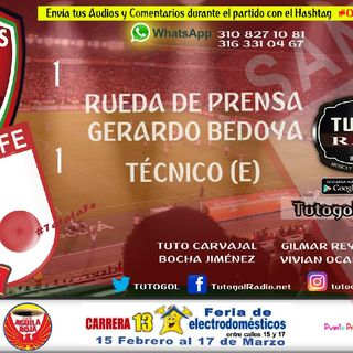 Rueda De Prensa Gerardo Bedoya D.T (E) #Patriotas 1 V @SantaFe 1 Único Medio De Bogotá En Tunja @cra13electro