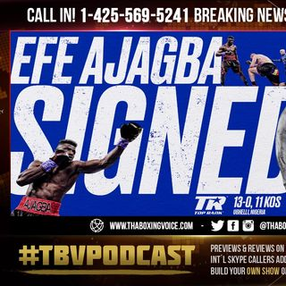 ☎️Efe Ajagba Signs with Top Rank😱Live Ronnie Shields Reacts to Being🔥FIRED For Kay Koroma😲