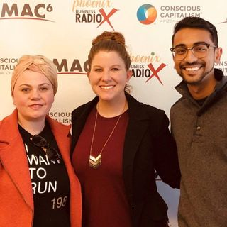 Shatha Barbour with Hera Hub and Sonny Patel with Insurmi
